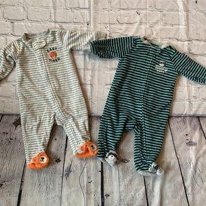 🐅 3/$25 Terry Cloth Tiger Pjs & Raccoon Pjs